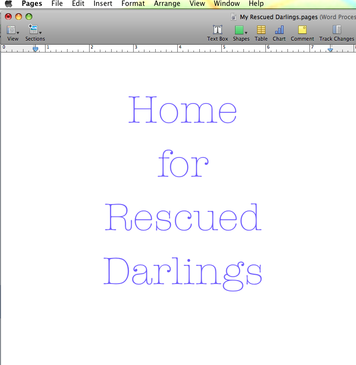 rescue your darlings editing tip kill your darlings alternative