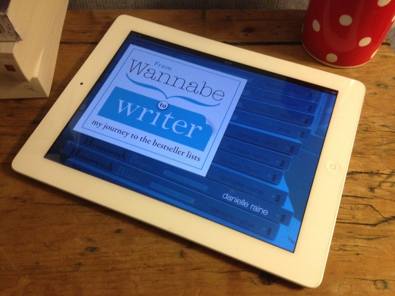 ipad cuppa wannabe writer ebook