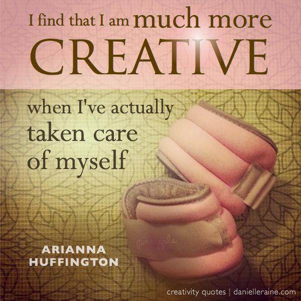 arianna huffington creativity quote