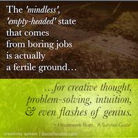housework blues creativity quotes TN