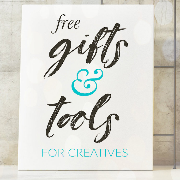 free gifts & tools for creatives square