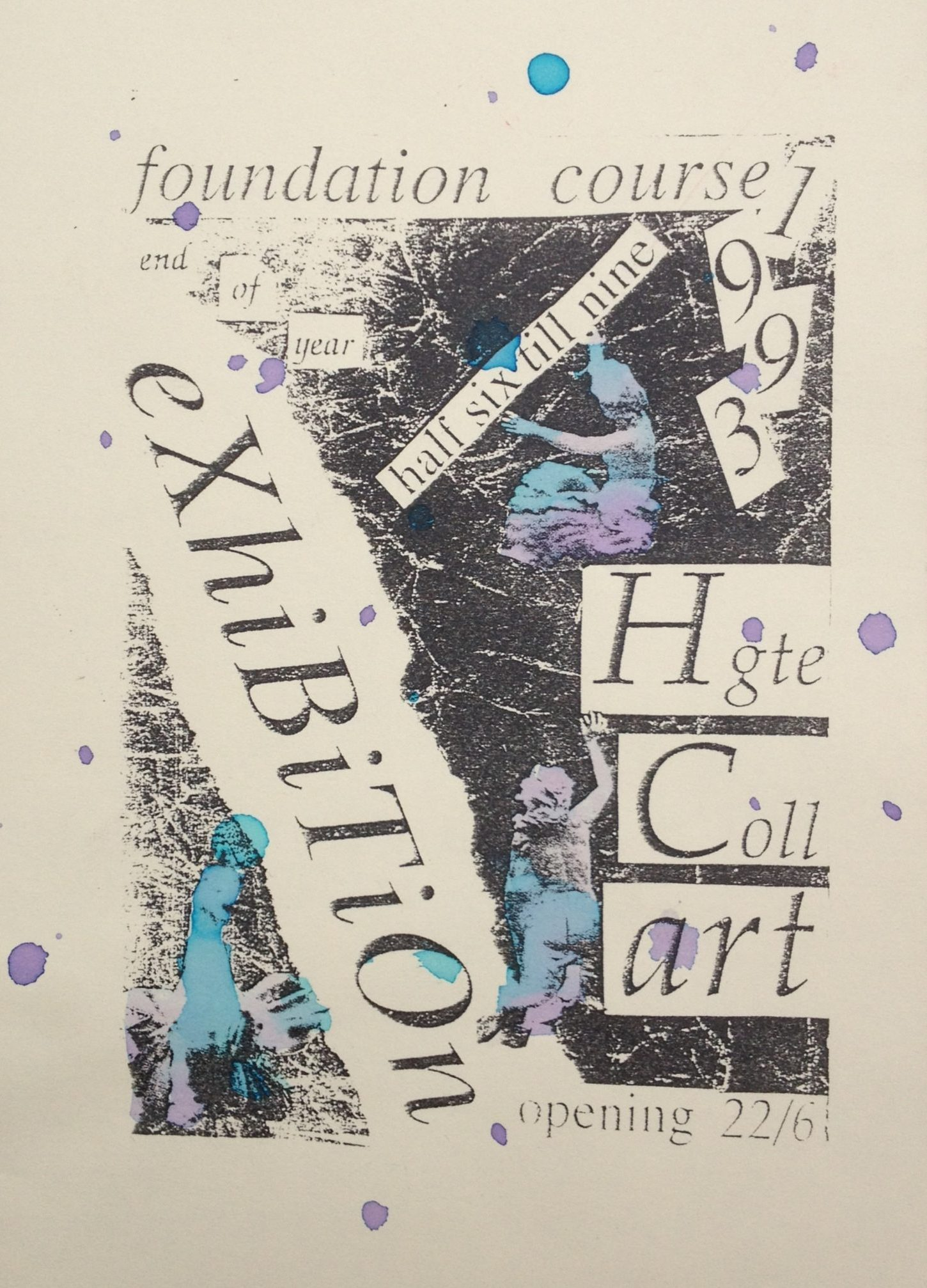 harrogate art college exhibition flyer 1993