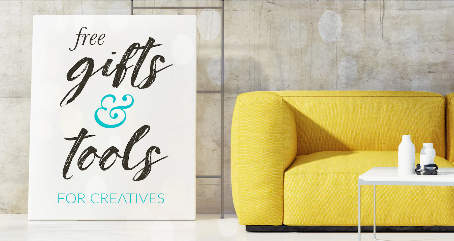 free gifts tools for creatives banner