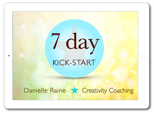 7 day kickstart week of 1:1 creativity coaching via email