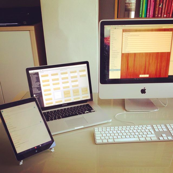 blogging organisation imac laptop ipad apps