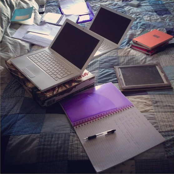 book writing laptops ipad notebooks bed