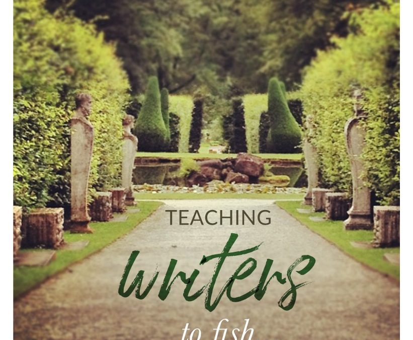Teaching writers to fish…