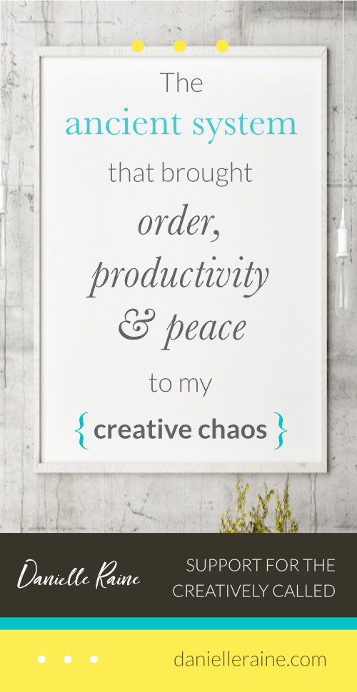 creative chaos order productivity peace ancient practice