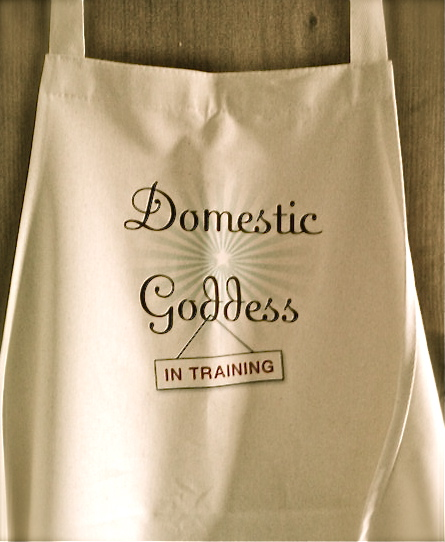 domestic goddess in training apron