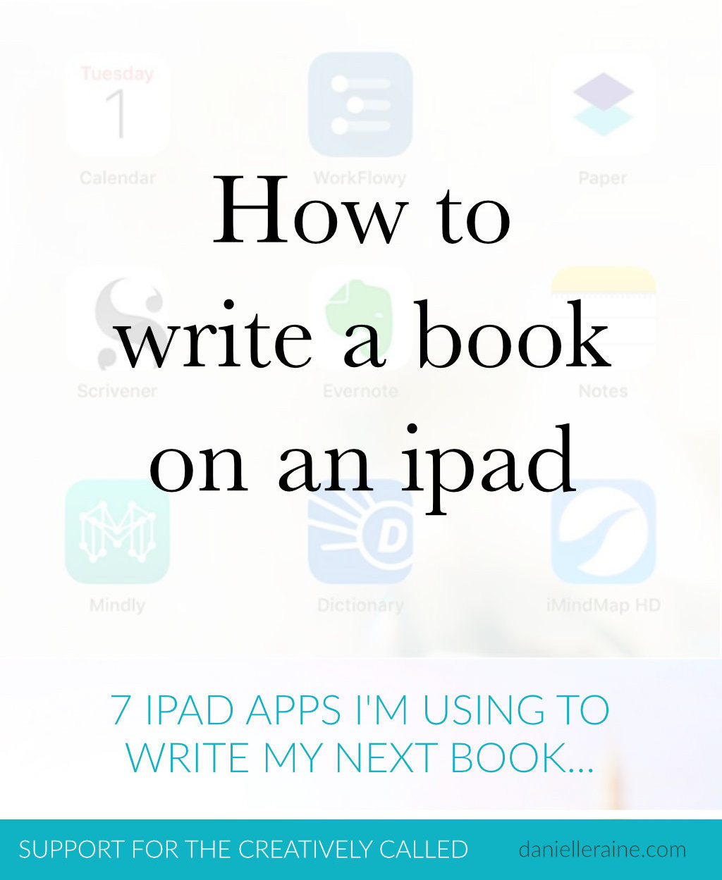 how to write a book on an ipad pin graphic