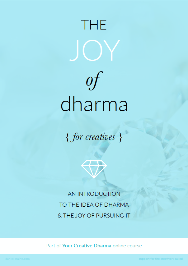 the joy of dharma ebook for creatives from your creative dharma online course