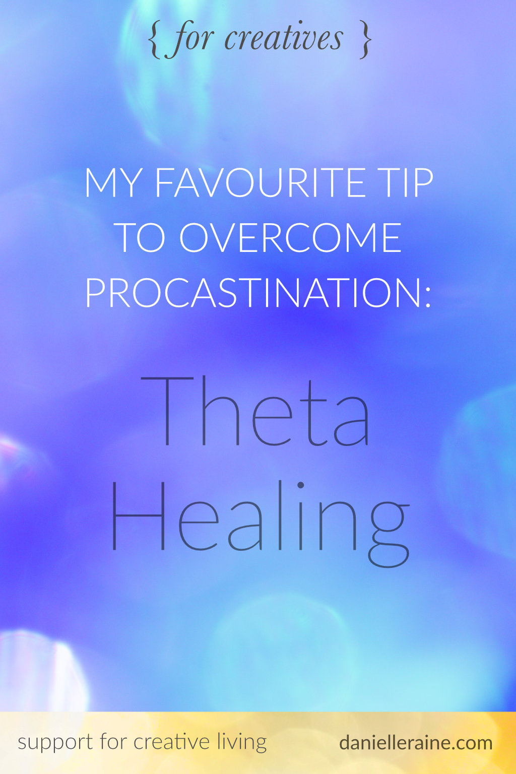 overcome procrastination for creatives theta healing pin