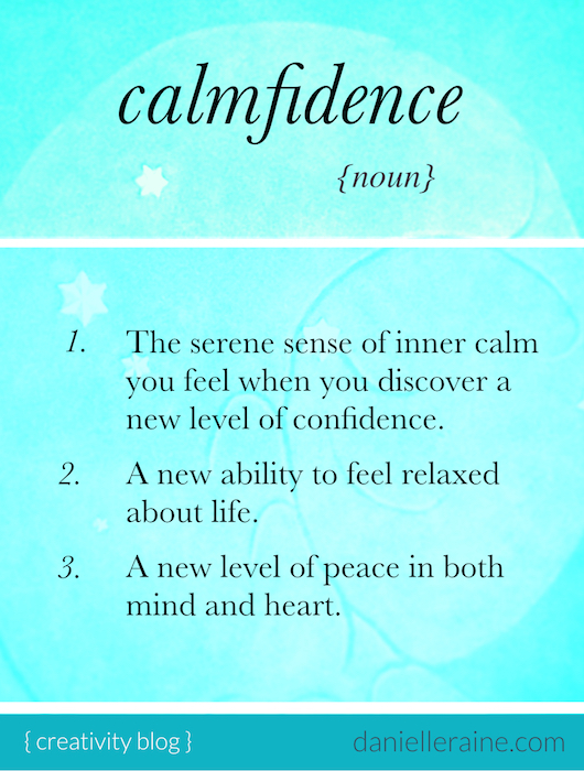 calmfidence definition clarity confidence and calm
