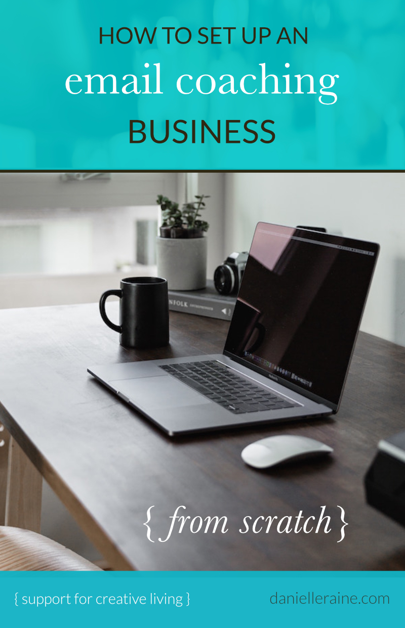 how to set up email coaching business
