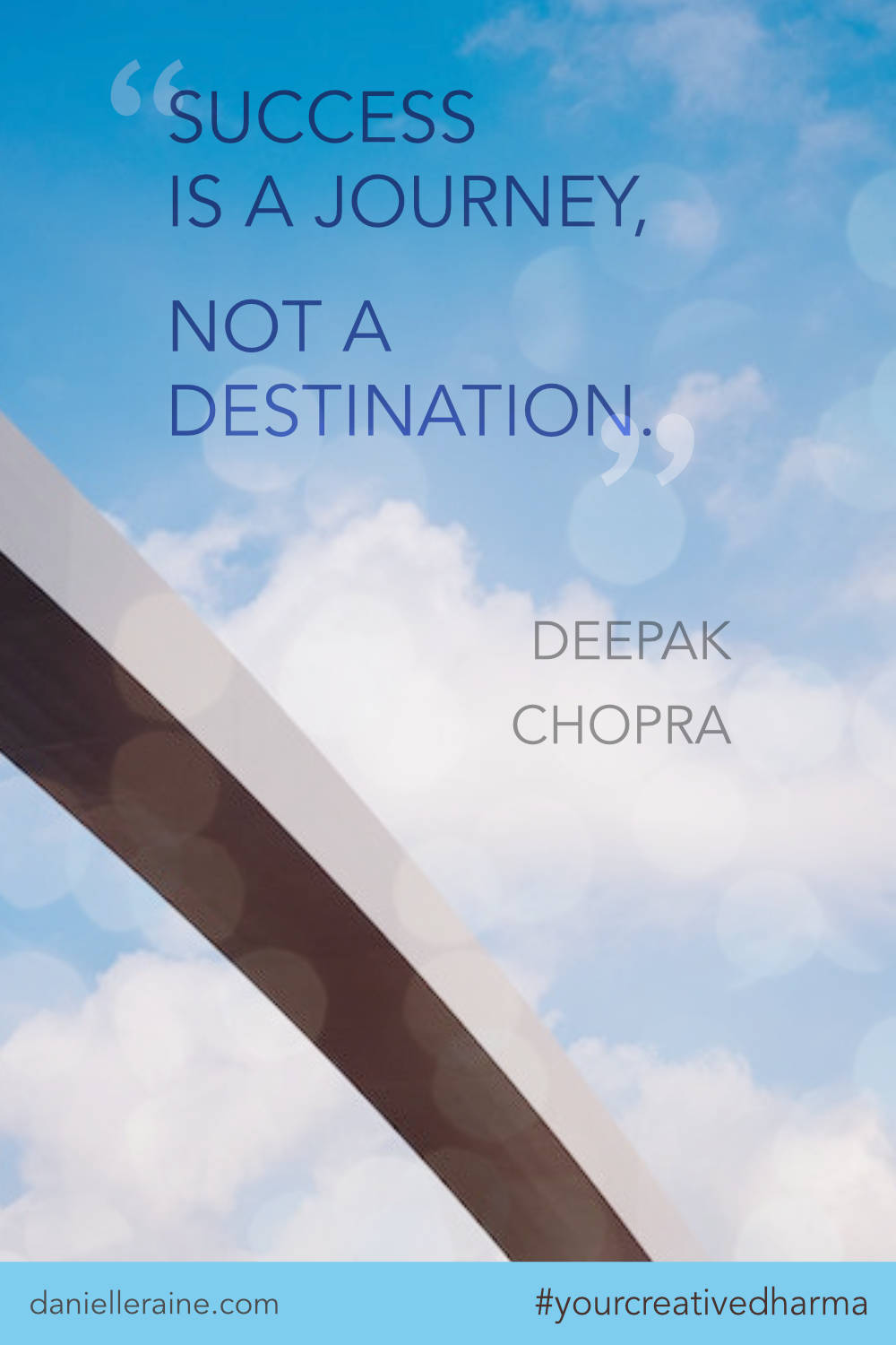Your Creative Dharma quote deepak chopra success is a journey
