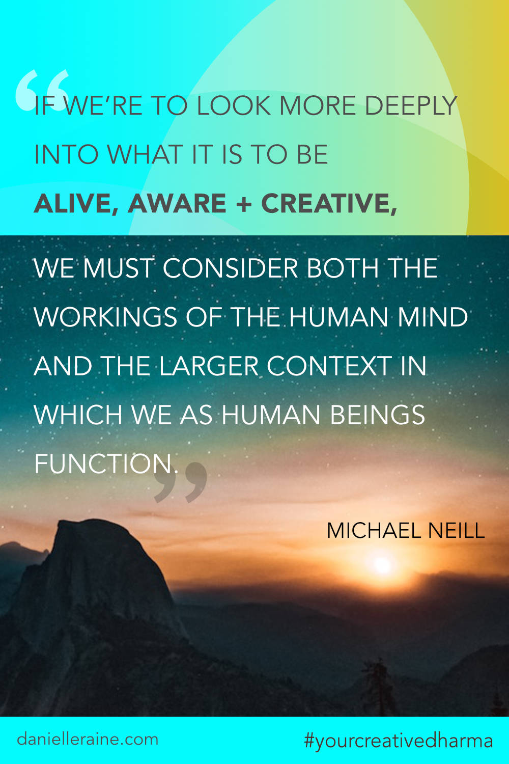 Your Creative Dharma quote michael neill