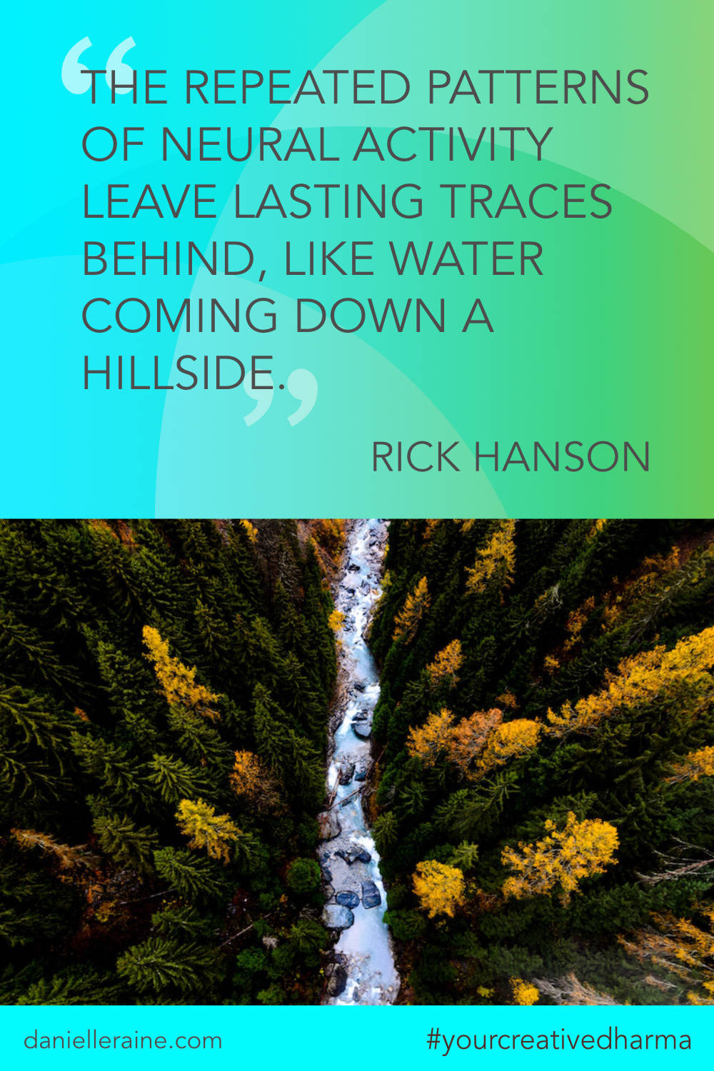 Your Creative Dharma quote rick hanson neural pathways