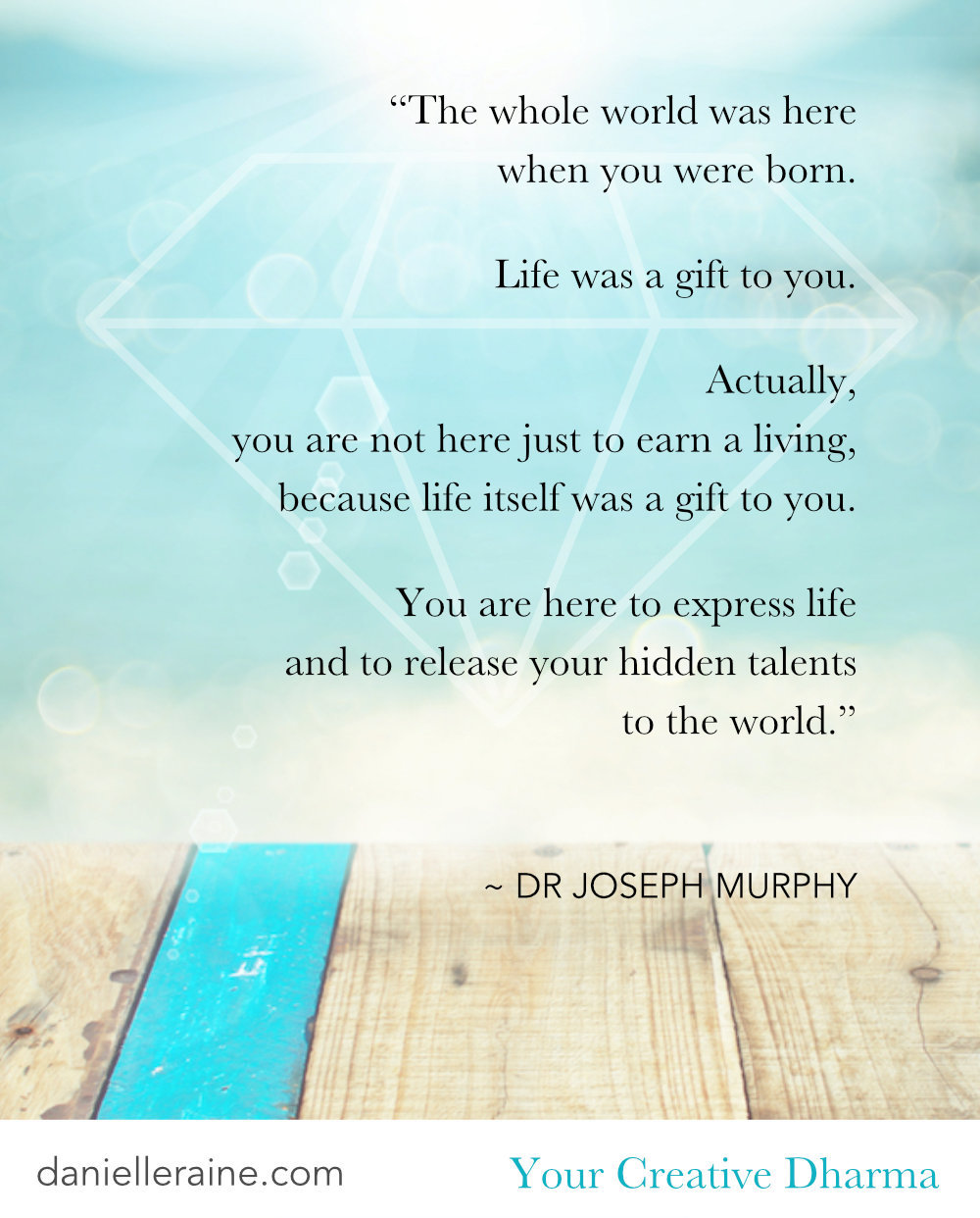 joseph murphy quote your creative dharma pin