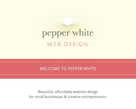 pepper white web design