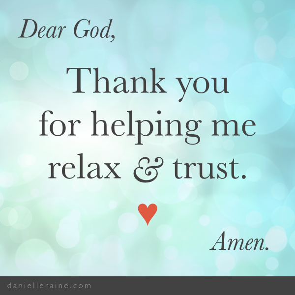 gratitude prayer to relax and trust