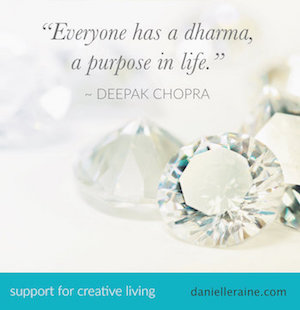 deepak chopra dharma purpose quote