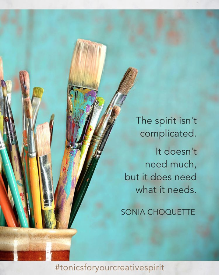 """Using our creativity is therapeutic, not because we need to be fixed, but because we need to be expressive.""  Julia Cameron quote"