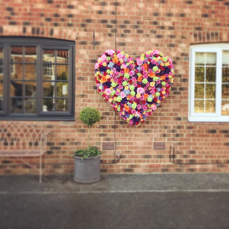 heart flower display yorkshire