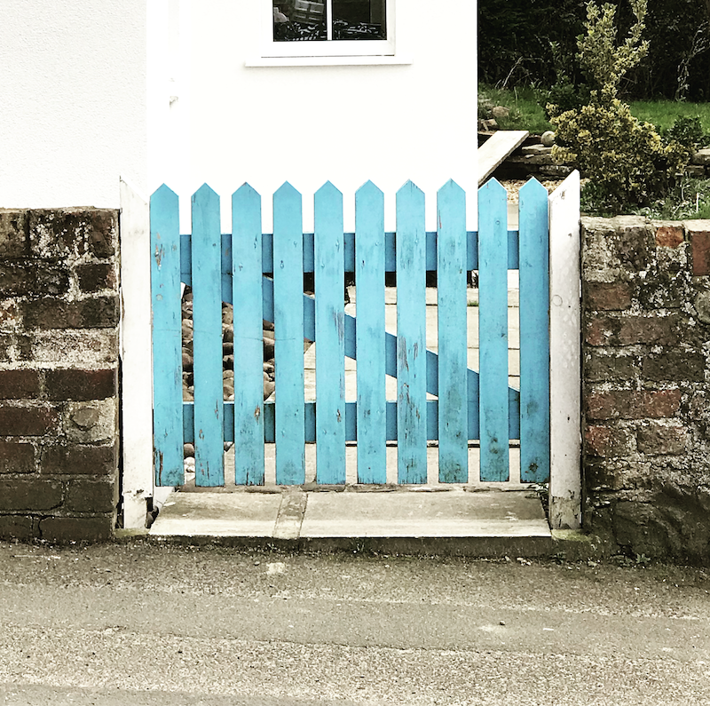 tiffany blue turquoise gate yorkshire garden