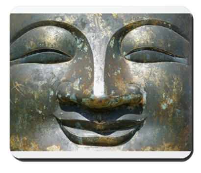 smiling buddha mousepad danielle raine gifts for creatives writers artists