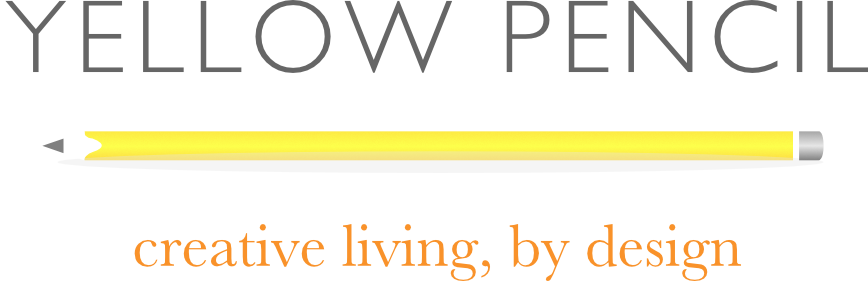 yellow pencil creative living by design logo