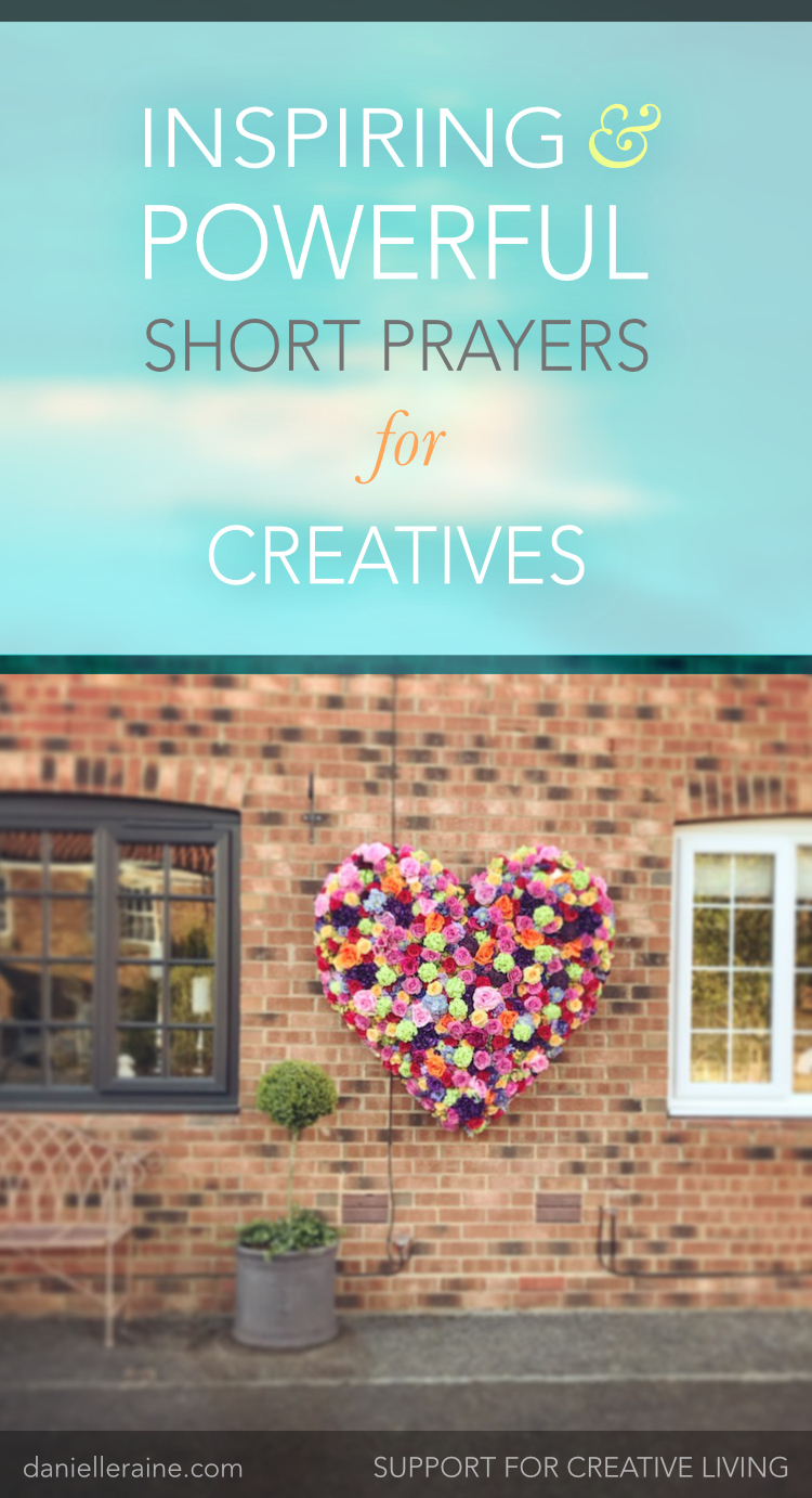 inspiring powerful short prayers for creatives