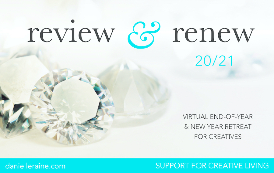 Review & Renew online course virtual retreat for creatives
