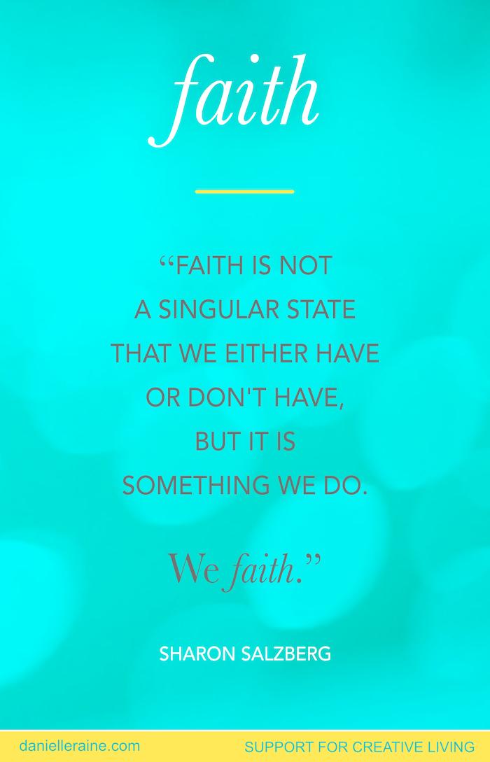 faith quote sharon salzberg creativity blog post 2020