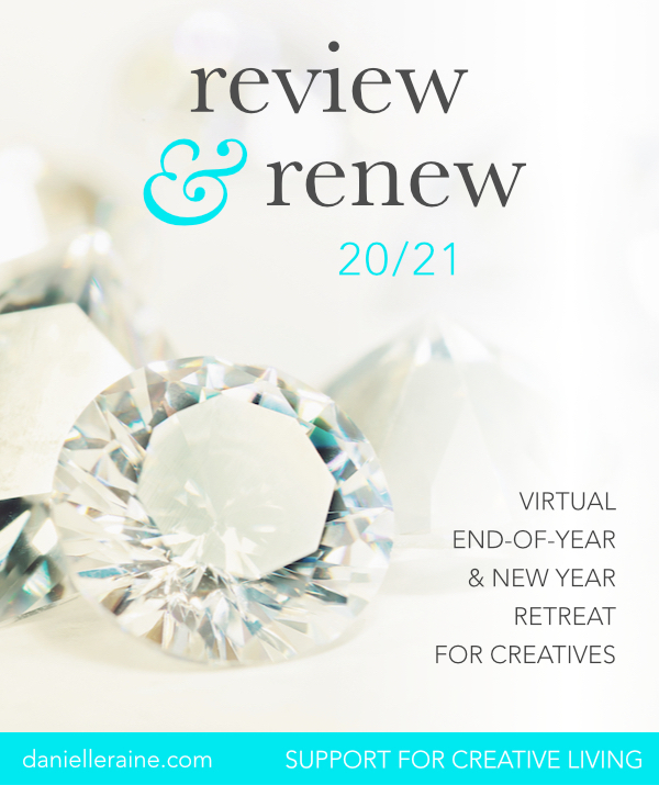 Review & Renew virtual retreat for creatives self study online course