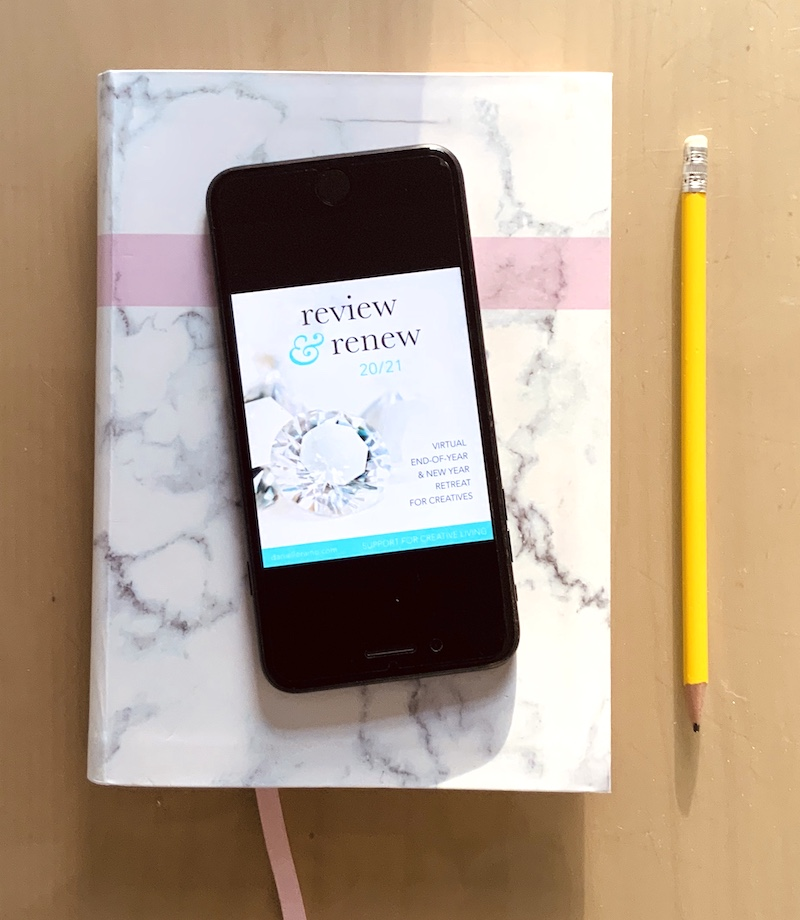 review renew self study course diary pencil iphone