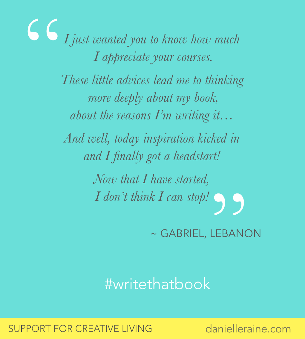 Gabriel writethatbook free course for writers testimonial