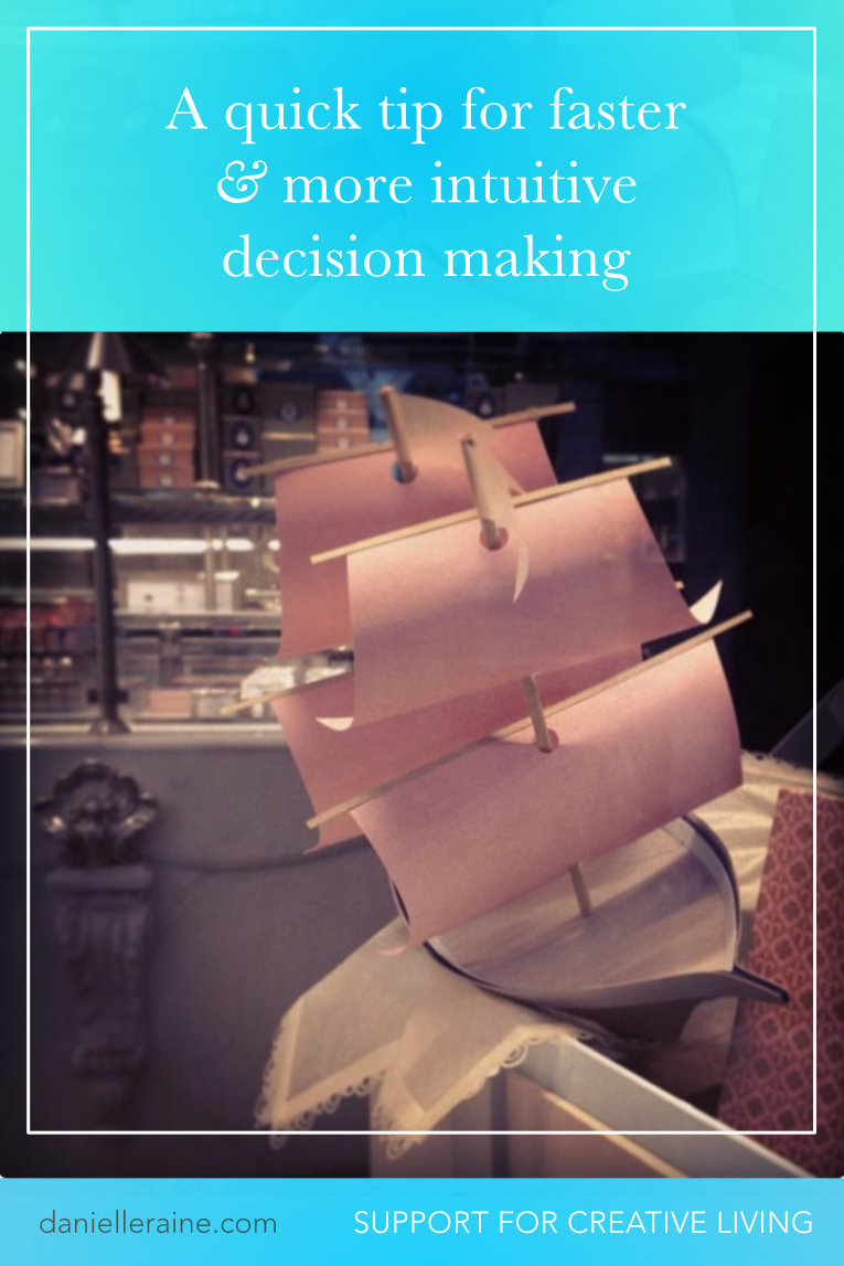 a quick tip for making faster & more intuitive decisions