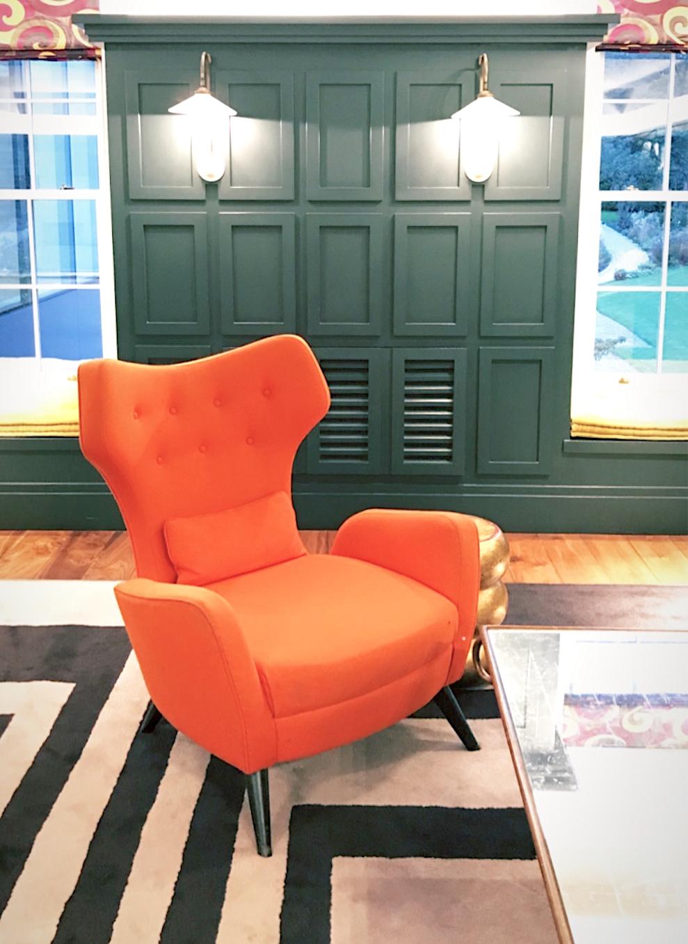 rudding park retro orange designer armchair