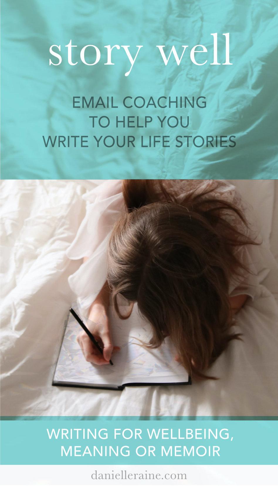 story well email coaching writing memoir pin