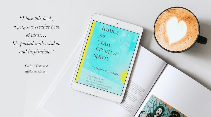 tonics for your creative spirit book ipad heart coffee mug CW testimonial