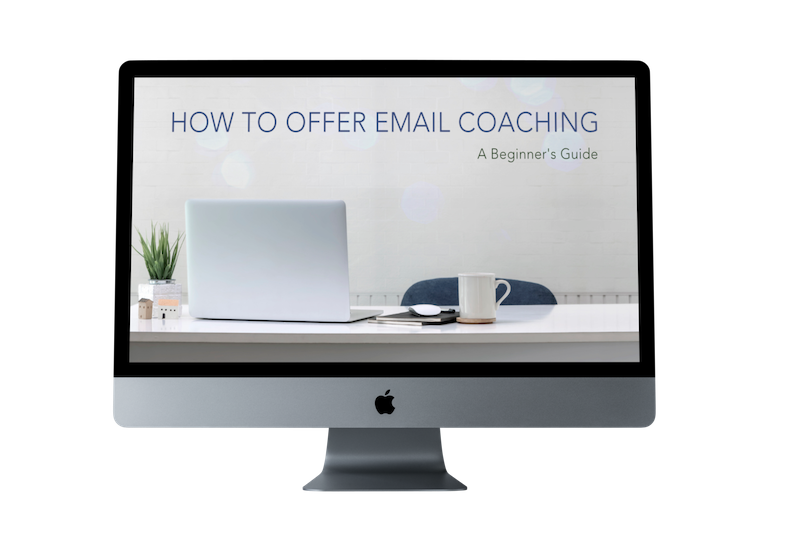 how to offer email coaching online course copy