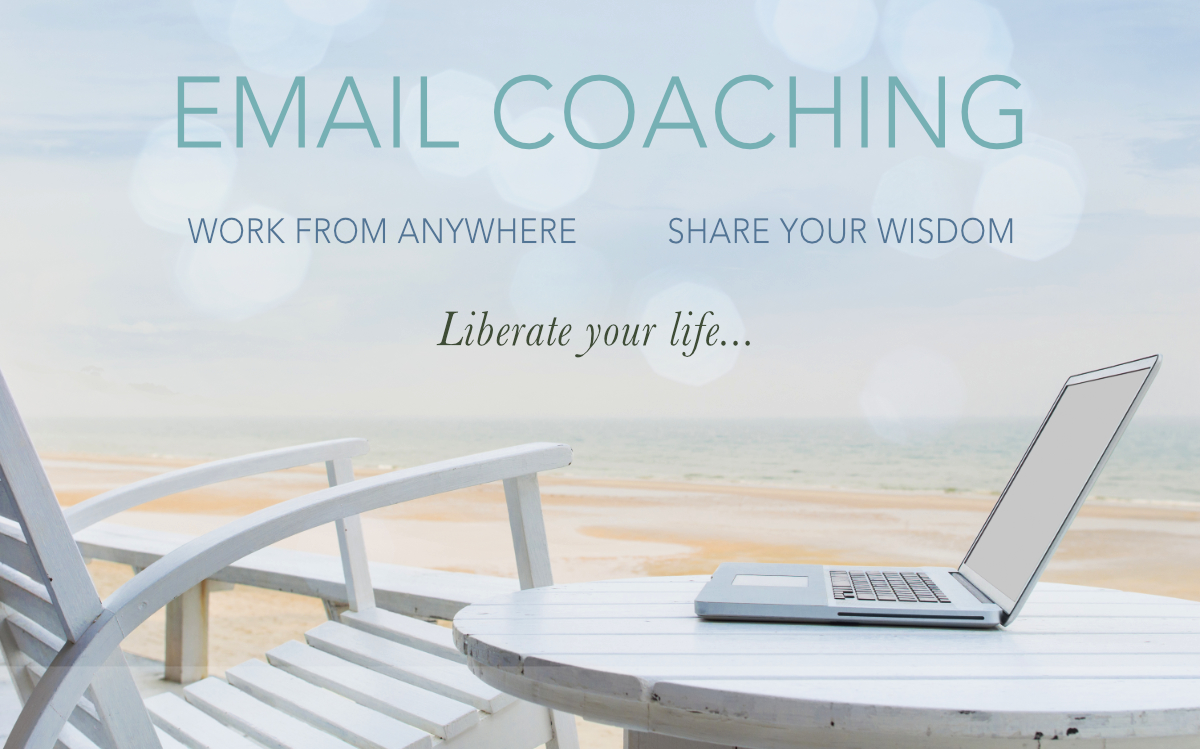 how to offer email coaching work from anywhere beach banner