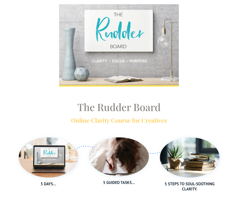 the rudder board free online clarity course for creatives