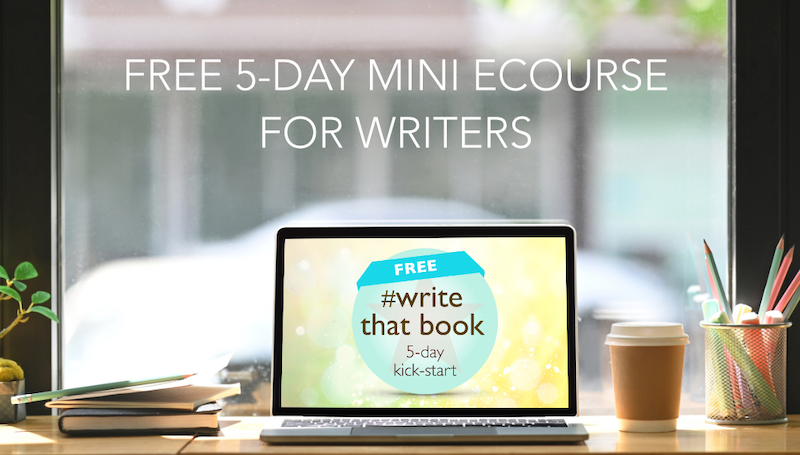 write that book free online course for writers cafe table laptop notebooks pencils