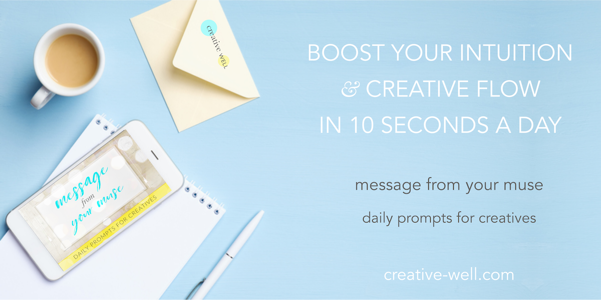 message from your muse daily prompts for creatives iphone banner
